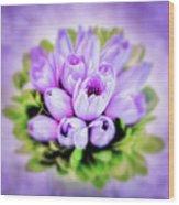 Purple Bouquet Wood Print