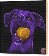 Purple Boxer Mix Dog Art - 8173 - Bb Wood Print