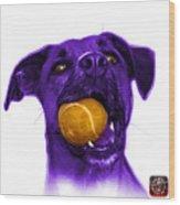 Purple Boxer Mix Dog Art - 8173 - Wb Wood Print