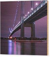 Purple Bridge Wood Print