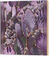 Purple Cactus Canvas Wood Print