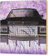 Purple Cadillac Wood Print