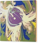 Purple Calla Lilly Wood Print