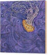 Purple Calm Wood Print