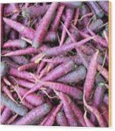 Purple Carrots Number 1 Wood Print