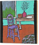 Purple Chair Wood Print