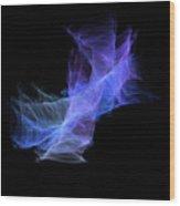 Purple Cloud Wood Print