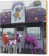 Purple Cow 1 Wood Print
