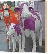 Purple Cow 2 Wood Print