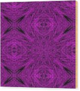 Purple Crossed Arrows Abstract Wood Print