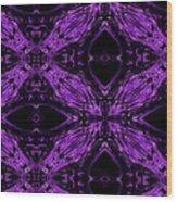 Purple Crosses Connecting Wood Print