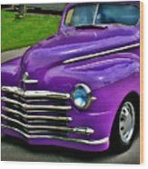 Purple Cruise Wood Print