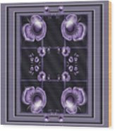 Purple Dimensions Wood Print