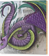 Purple Dragon Wood Print