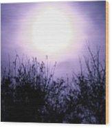 Purple Eclipse Wood Print