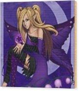 Purple Fairy Of Night Wood Print