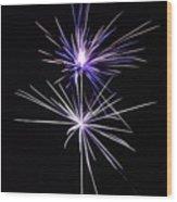 Purple Fireworks  Wood Print