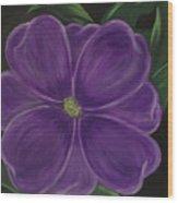 Purple Flower Wood Print by Melanie Blankenship