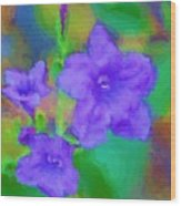 Purple Flowers 102310 Wood Print