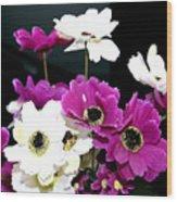 Purple Flowerspurple Flowers Wood Print