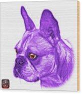 Purple French Bulldog Pop Art - 0755 Wb Wood Print