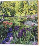 Purple Garden Wood Print