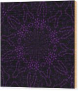Purple Geek Kaleidoscope Four Wood Print