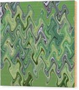 Purple Green Smoke Swirl Wood Print