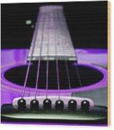 Purple Guitar 15 Wood Print