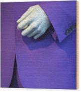 Purple Hand Purple Hand Wood Print