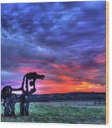Purple Haze Sunrise The Iron Horse Wood Print