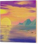 Purple Haze Sunset Wood Print