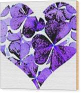 Purple Heart Art Wood Print