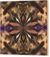 Purple Heart Design Wood Print