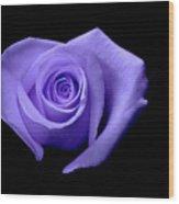 Purple Heart-shaped Rose Wood Print