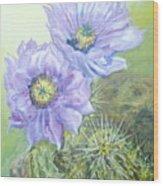 Purple Hedgehog Wood Print