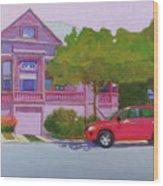 Purple House, Alameda Wood Print