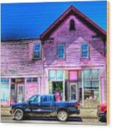 Purple House Wood Print
