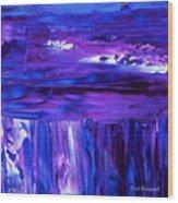 Purple Hue Wood Print