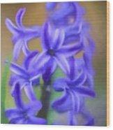 Purple Hyacinths Digital Art Wood Print