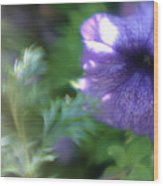 Purple In Monets Garden Wood Print