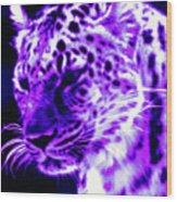 Purple Jaguar Wood Print