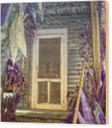 Purple Key West Wood Print