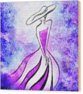 Purple Lady Charm Wood Print