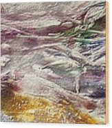 Purple Land Wood Print