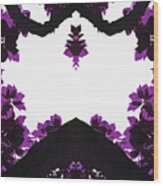 Purple Leaves Wood Print