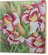 Purple Lilies.2007 Wood Print