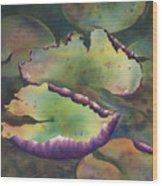 Purple Linings I Wood Print
