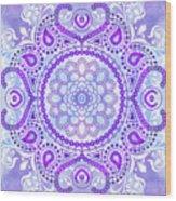Purple Lotus Mandala Wood Print