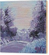 Purple Majesty Landscape Wood Print by Jera Sky